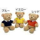 ポロシャツベア【EMMA エマ】ぬいぐるみ テディベア くま クマ 熊 Teddy bear 手触りふわふわ ポロシャツ 赤 青 黄色 父の日 誕生日 バースデー お祝い #200202RD #200202BL #200202Y