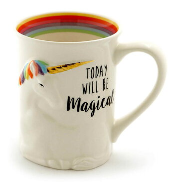マジカル ユニコーン マグカップ【Enesco Gift】MAGICAL UNICORN SCULPTED メルヘン かわいい 食器 食洗機可 プレゼント ギフト 誕生日Enesco社認定 日本正規総代理店