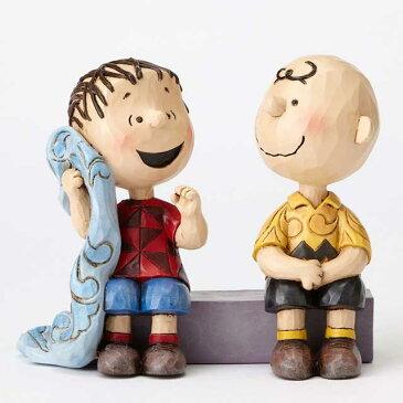 チャーリーブラウン&ライナス -Sage Advice-【PEANUTS JIM SHORE ピーナッツ ジムショア】 Snoopy Charlie Brown Linus フィギュア 置物 彫像 インテリア ギフト プレゼント お祝いEnesco社認定 日本正規総代理店
