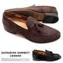 キャサリンハムネット ビジネスシューズ 靴 革靴 紳士靴 メンズ 本革 ゴート ローファー タッセル スリッポン ビジカジ 31648