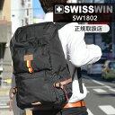 swisswin リュック リュックサック 軽量 メンズ おしゃれ 通勤リュック バックパック ビジネスリュック ノートPC収納 通勤 出張 旅行 アウトドア 登山 バッグ スイスウィン