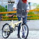 Raychell レイチェル 折りたたみ 自転車 カゴ付 折り畳み自転車 20インチ シマノ6段変速 軽量 FB-206R 男性 女性 通学 通勤 鍵 ライト付