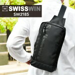 swisswinボディバッグメンズかっこいいブランドワンショルダーバッグおしゃれ斜めがけバッグ通勤通学アウトドアボディバックプレゼント黒鞄バイク自転車スイスウィン