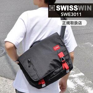 最大2000円クーポン配布中 swisswin スイスウィン ショルダーバッグ 軽量 12L メンズ 斜めがけバッグ メッセージバッグ 通学 鞄 アウトドア おしゃれ 通勤 防水