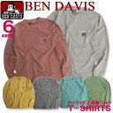 BEN DAVIS Tシャツ ベンデイビス 長袖Tシャツ メンズ ロンT ピグメント加工 BEN'S ゴリラアイコン ブランドタグ付き ベンデビ トップス 商品番号 BEN-1101