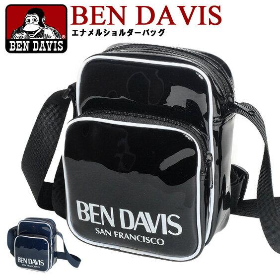 BEN DAVIS ショルダーバッグ ベンデイビス エナメルバッグ ロゴプリント BENDAVIS ミニショルダーバッグ ベンデービス 斜め掛けバッグ ベンデビ エナメルショルダーバッグ ロゴ プリント 鞄 カバン BEN-1194