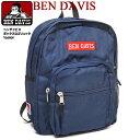 BEN DAVIS バックパック ベンデイビス リュックサック ボックスロゴ 刺繍 ベンデービス デイパック BDW-9232 ロゴ刺繍 BENDAVIS バッグ メンズ カバン レディース リュック ベンデイヴィス 鞄 男女兼用 BEN-1186
