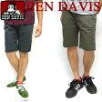 BEN DAVIS ベンデイビス スケーター ショーツ ★ ベンデービス ハーフパンツ。5つのポケット付きのショートパンツ。普段使いとしてカッコ良く着回せる。夏にピッタリなカジュアルで着回しやすいボトムスが登場しました。⇒BEN-764