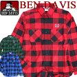 BEN DAVIS 長袖シャツ ベンデイビス バッファローチェック ベンデービス カジュアルなスタイルで定番のチェック柄アイテム 胸ポケット上のゴリラタグがポイント シンプルなシャツ 着回しの効く トップスアイテム 3色展開。BEN-793