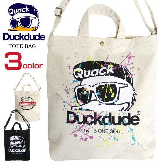 男女兼用バッグ, トートバッグ DUCK DUDE 2way duckdude BAG-081