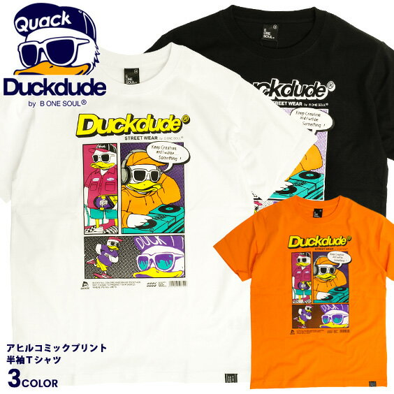 トップス, Tシャツ・カットソー DUCK DUDE T T duckdude COMIC TEE TSS-471