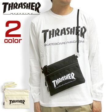 THRASHER バッグ ロゴプリント サコッシュ スラッシャー ショルダーバッグ ブランドタグ thrasher magine ミニショルダー 斜め掛け メンズ 鞄 SACOCHE BAG レディース スケーターブランド 商品番号 THRASHER-THC101
