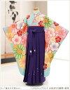 卒園式 女の子 袴レンタルm 「ぷちぷり」ブランド 水色彩りの慶華×紫...
