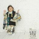 【レンタル】【被布】七五三(3歳男の子被布)0001黒×黒 ...
