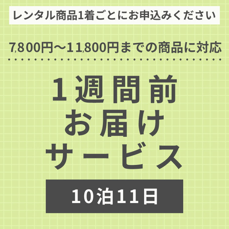 【レンタル】【子どもフォーマルレンタル】1週間前お届けサービス【10泊11日】otodoke5