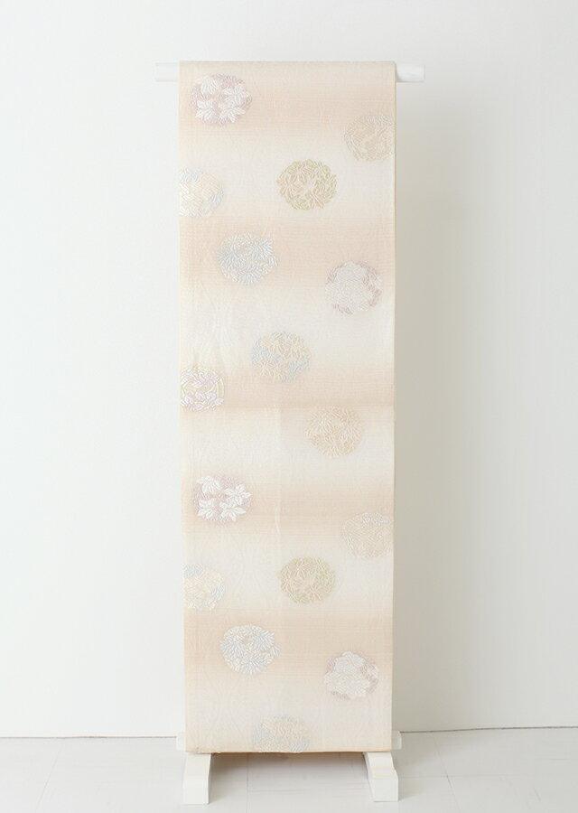 レンタル おしゃれ帯 袋帯 単品 ob1528 白地にオレンジの横縞模様〔帯だけ〕〔単品レンタル〕〔袋帯〕〔おしゃれ着用帯〕〔rental〕【夏物 華やか 帯】【往復送料無料】【帯のみ】【帯だけレンタル】