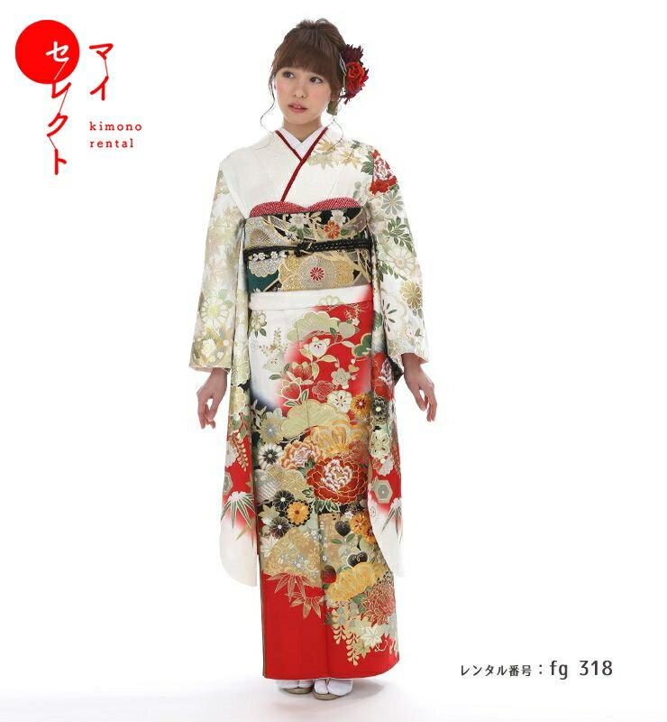 fg_318 / 桂由美 YK-251 白×赤 S【レンタル】