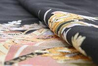 【黒留袖レンタル】mito_373MR-2901かずら帯花金刺繍正絹フルセット黒留袖結婚式貸衣装お呼ばれ黒|和装服装親族レンタル着物小さいサイズ母親黒留め袖着物セット柄着付けセット小物セット帯締め草履バッグセット【往復送料無料】