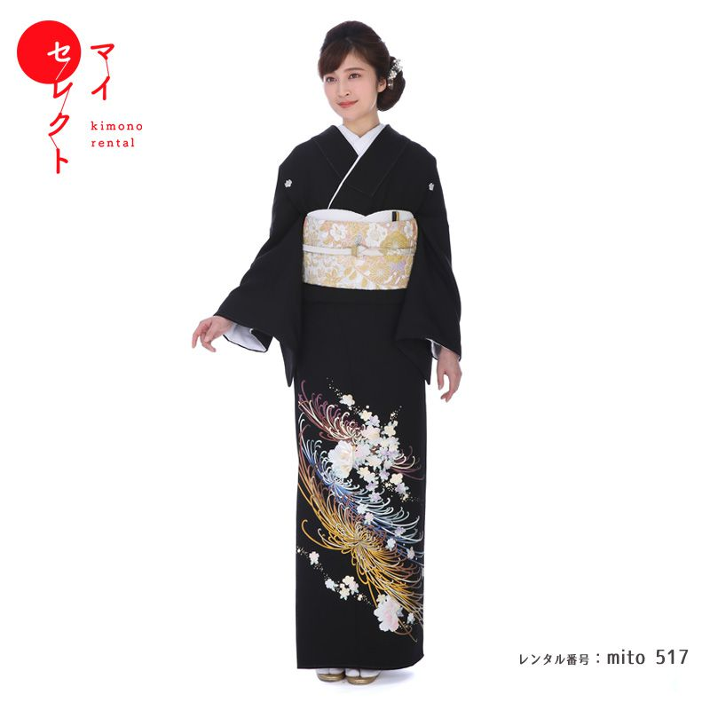 留袖 レンタル mito_517 和田光正 菊桜百花譜【レンタル】