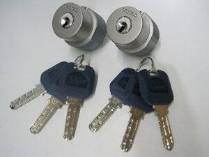 カバエースTE0 LIX取替用シリンダーシルバー色(2個同一仕様 純正6本鍵付)3250TEカバエースTE0 L...