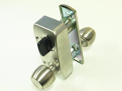 U9RA(85RA)取替用本体セット握り玉タイプ外開用左勝手シルバー色