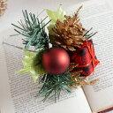 クリスマス飾り チェックギフトピック 1本 XP8210 クリスマスピック デコ