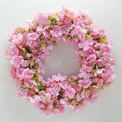 一生枯れない!手軽に飾れる大きさ。【レビューを書いて送料無料!】 八重桜のリース 大「-春...