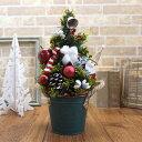 クリスマスアレンジ クリスマスツリー(サンタ) 36cm CMMA027a