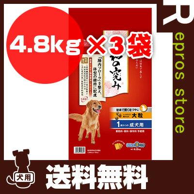 【送料無料・同梱可】JPスタイル 和の究み 大粒 1歳からの成犬用 4.8kg×3袋 日清ペットフード ▼a ペット フード 犬 ドッグ