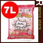 【あす楽対応】 トフカスPee 7L ピーチの香り ペグテック▼a ペット グッズ キャット トイレ 猫砂