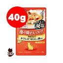 リプロスストアで買える「COMBO コンボ 海の味わいスープ おいしい減塩 15歳以上 まぐろとかつおぶしと鯛添え 40g 日本ペットフード ▼a ペット フード 猫 キャット パウチ」の画像です。価格は80円になります。