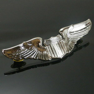 Rothco 引腳 1,650 美國空軍飛行員翼美國空軍 | 羅斯科針腳軍事徽章批軍事徽章國徽翻領別針肩章徽章章雪佛龍武器章類: