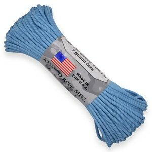 ATWOOD ROPE 550パラコード タイプ3 カロライナブルー アトウッドロープ Carolina Blue 商用 30m パラシュートコード 綱 靴紐 靴ひも シューレース 防災画像