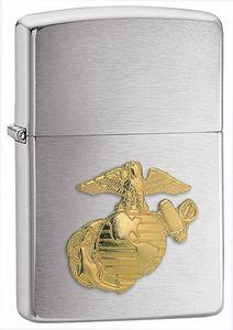 ZIPPOアメリカ海兵隊エンブレム#280MARメダリオンクローム|ジッポーオイルライター