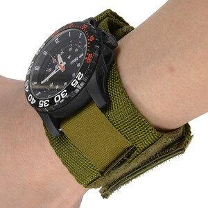 供Rothco钟表使用的皮带表带尼龙[草绿色]| OD军事表军用手表军用表