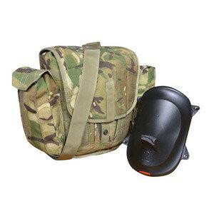 イギリス軍放出品ガスマスクバッグMTP迷彩マスクカバー付き英軍ガスマスクポーチミリタリーサバゲー装備品デッドストック防護面バッグ