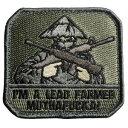 ミリタリーサープラス レプティルで買える「MIL-SPEC MONKEY パッチ LEAD FARMER ベルクロ [ ACU ] ミルスペックモンキー Tropic Thunder リードファーマー IM MUTHAFUCKA ミリタリーワッペン ミリタリーパッチ アップリケ 記章 徽章 襟章 肩章 胸章 階級章 菅笠 フェイスマスク ライフル」の画像です。価格は800円になります。