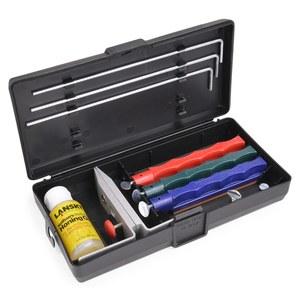 3 砂輪 [沒有橡膠和油磨水車輪斯通 knifesharpner 觸摸起來簡單砂輪套 Lansky 卷筆刀標準砂輪