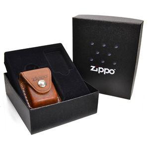 ZIPPO レザーポーチ ギフトセット LPCB [ ブラウン ]   ジッポー オイルライター