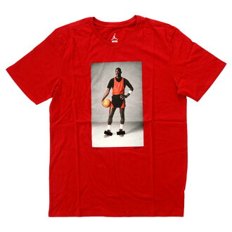 NIKE AIR JORDAN1 BANNED LOGO&PHOTO TEE 842266 687耐吉空氣喬丹1帶標識照片T恤紅圓領短袖印刷