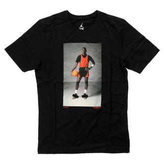 NIKE AIR JORDAN1 BANNED LOGO&PHOTO TEE 842266 010耐吉空氣喬丹1帶標識照片T恤黑色圓領短袖印刷