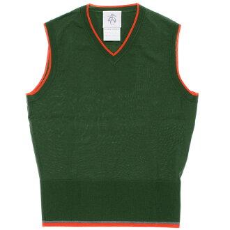 羊毛的布魯克斯兄弟羊毛 V 脖子套頭衫針織毛衣最佳綠色男裝黑色羊毛的布魯克斯兄弟美利奴羊毛背心