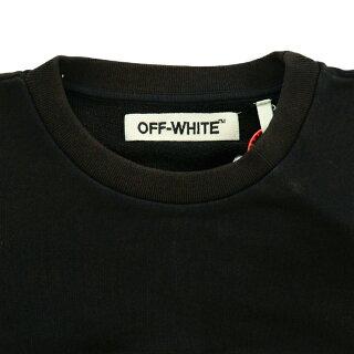 【メンズ】OFF-WHITES.FRANCESCOCREWNECKオフホワイトフランシスコプリントクルーネックスウェットトレーナーブラック黒長袖