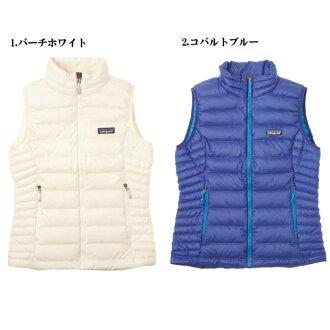 巴塔哥尼亞婦女下來毛衣背心 84628 巴塔哥尼亞婦女下來毛衣最好樺木白色鈷藍色