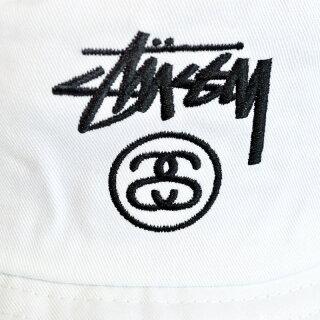 【全3色】【メンズ/レディース】STUSSYSTOCKLOCKBUCKETHATステューシーストックロックバケットハットブラックホワイトネイビー帽子★★