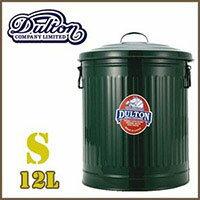 ごみ箱ダルトンオシャレアメリカンdultonガベージカンふた付きスチール缶12リットルグリーン