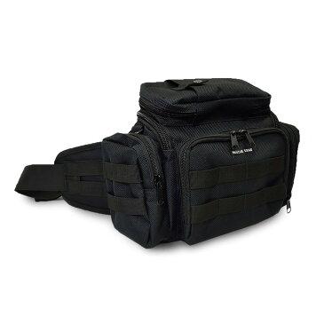 EMSウエストバッグ [RESCUE SQUAD](ウエスト バッグ バッグ バック BAG bag 大容量 消防 メンズファッション レスキュー レスキュースクワッド 山岳救助隊 自衛隊 救急隊 EMT EMS 釣り バイク アウトドア サバゲー モールシステム 黒)