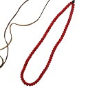 TADY&KING タディアンドキング goro's ゴローズ 魂継承 ホワイトハーツビーズ 赤ビーズ一連ネックレス tkb1c-18 メンズ レディース ビーズネックレス シルバーアクセサリー レジスト原宿・・・
