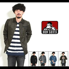 【BEN DAVIS ベンデイビス】BD カリフロゴTCツイルシャツ