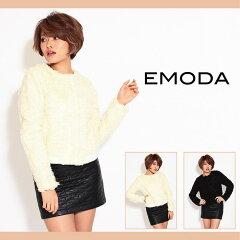 EMODA【セール】【EMODA(エモダ)】クラッシュファーノーカラーブルゾン
